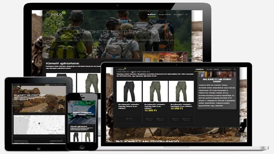 Katonai bolt webáruháza